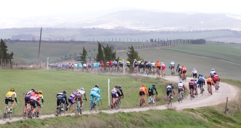Strade Bianche gravel cycling race