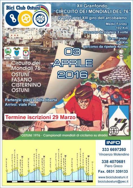Locandina GF Circuito Mondiali 76 - 2016