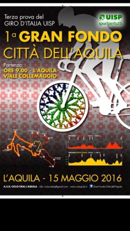 Locandina 2016 Granfondo Città dell'Aquila