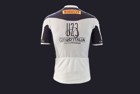 Pirelli Giro U23 White Jersey Back